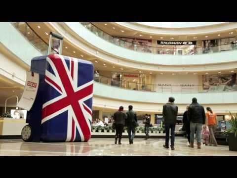 Креативная реклама British Airways and VisitBritain в Афимолле