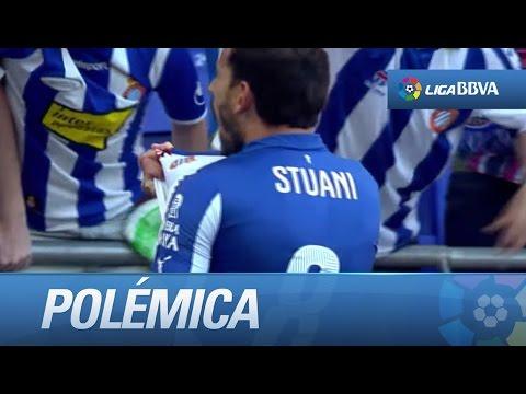 Polémica: posible falta sobre Keylor y gol de Stuani (1-1) en el RCD Espanyol - Real Madrid