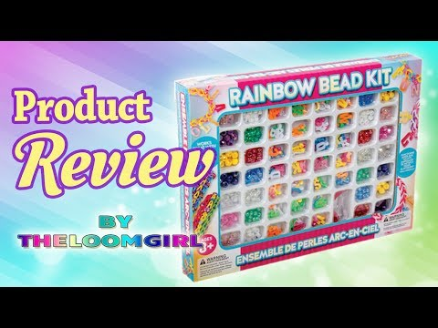 Review of Rainbow Bead Kit - Letters and beads for Rainbow Loom and for any loom!