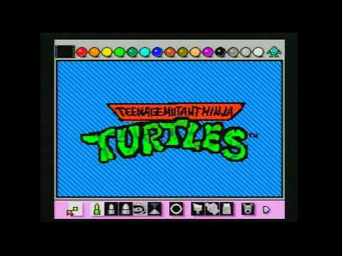 Teenage Mutant Ninja Turtles Intro Animated with Mario Paint by Mike Matei