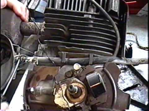 How To Remove Flywheel. Points Timing and reassembly of TECUMSEH 8HP PART 2 of 3