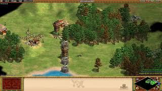 Age of Empires II  HD - 3 AI Hardest FFA - Spanish mumble
