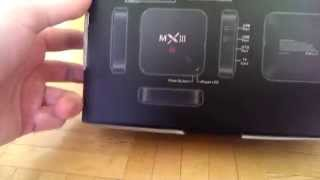 Android TV Box MX3 (MXIII) Unboxing