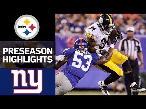 Steelers Vs Giants Nfl Preseason Week 1 Game Highlights