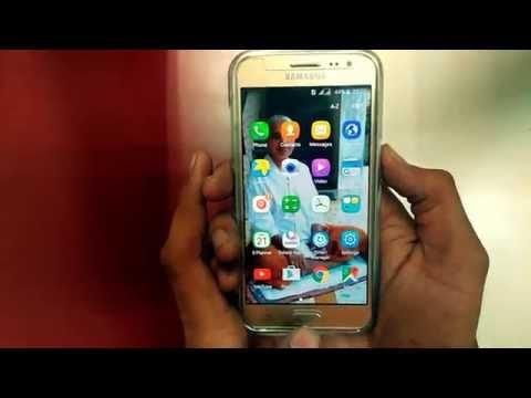 How to Take a Screenshot on Samsung Galaxy J2 SM-J200F