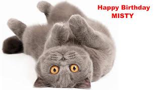 Misty  Cats Gatos - Happy Birthday