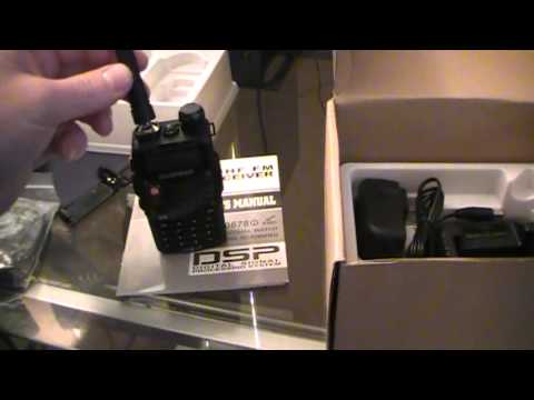 Unboxing - Baofeng UV5RA Ham Two Way Radio 136-174/400-480 MHz Dual-Band Transceiver (Black)