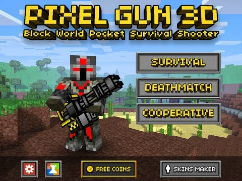 Pixel Gun 3D Minecraft Style Multiplayer iOS Review w Minigun Gameplay