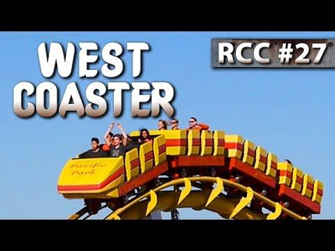WEST COASTER Roller Coaster -- Front-Row POV @ Santa Monica Pier