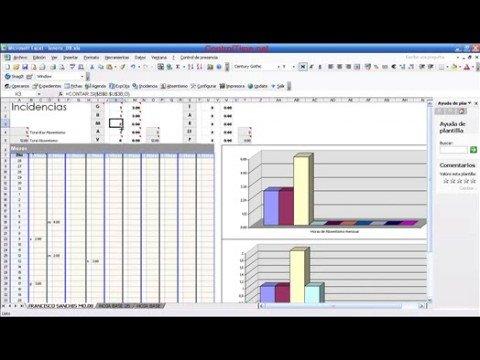 Xtimeexcel Control De Horas Y Absentismo Laboral En Excel