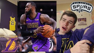 LEBRON GETS RIGGED BY THE REFS VS DEROZAN... LAKERS VS SPURS REACTION
