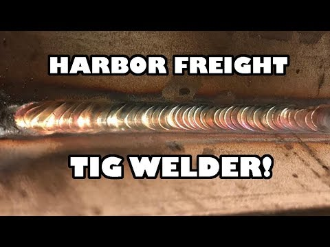 Harbor Freight TIG WELDING STAINLESS STEEL!