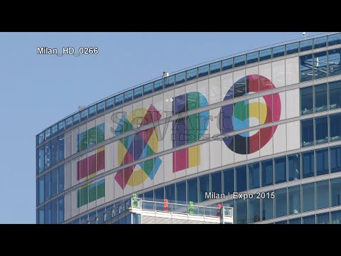 UHD Ultra HD 4K Video Stock Footage Milan Expo 2015 International Exhibition Universal Fair Trade