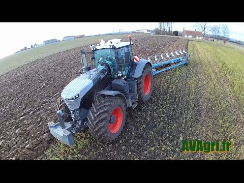 [NEWS 2017] FENDT 1050 Black Beauty in FRANCE avec une LEMKEN 9 corps