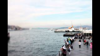 EOS 600D Eminönü - Galata HD Stock Footage Time Lapse