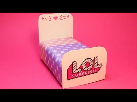 Как  сделать кровать для куклы LOL Surprise diy
