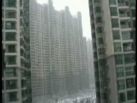 Shanghai in snow