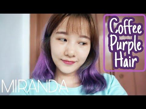 COFFEE PURPLE HAIR | Cara Mewarnai Rambut Warna Ungu Gelap | Pink Fuschia to Coffee Purple Tutorial