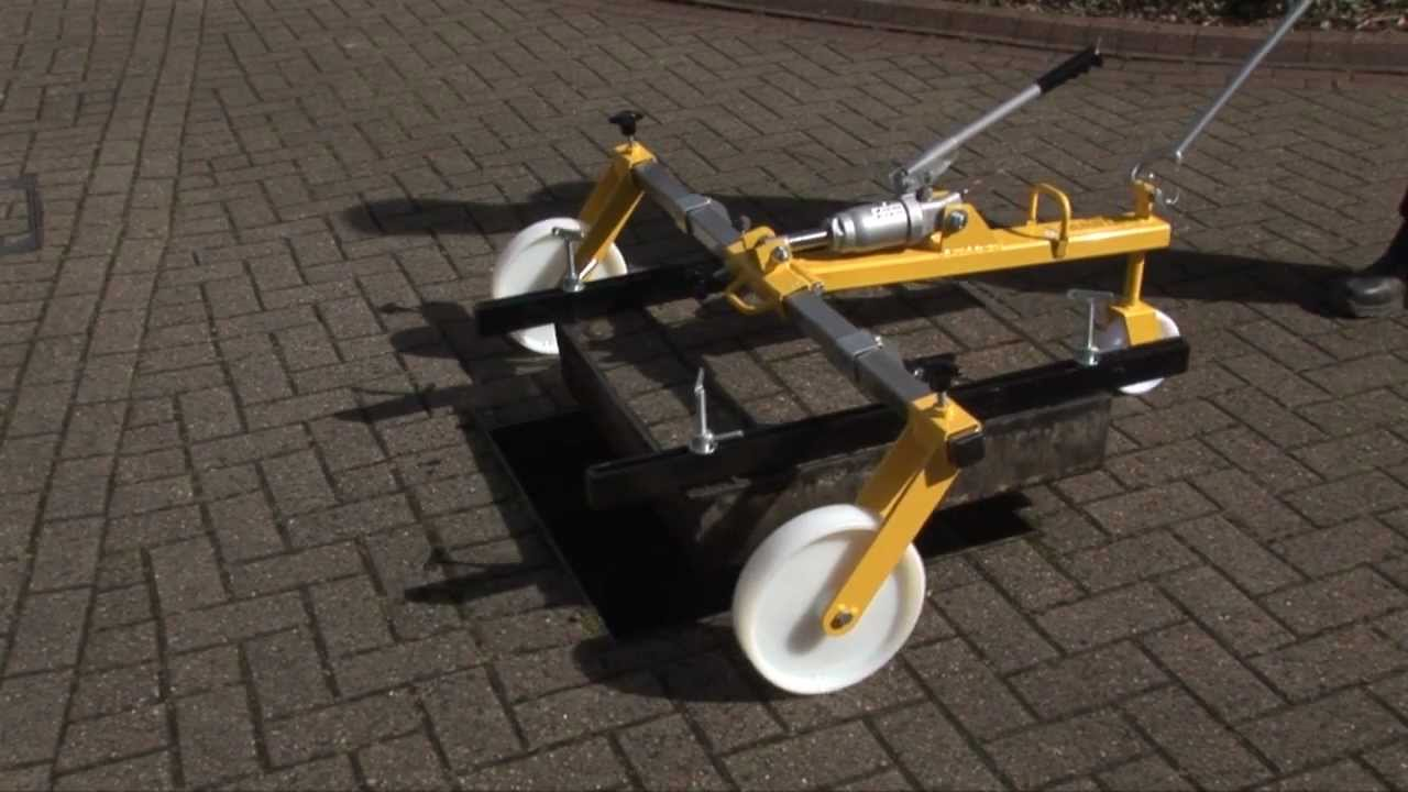 Manhole Cover And Frame >> Handylift Hydraulic (2012) Manhole Cover Lifter   Proteus Equipment - YouTube
