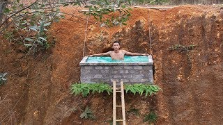 Unbelievable! Build Swimming Pool On The Cliff