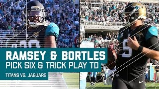 Bortles' Tricky TD Catch & Ramsey's Pick 6 Put Out the Titans Flame! | NFL Week 16 Highlights