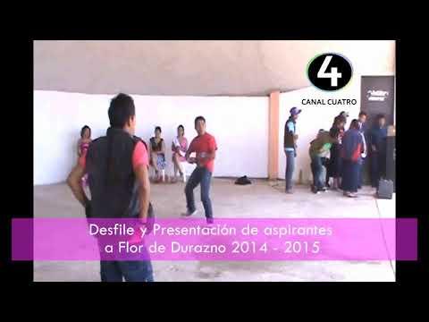 Desfile y Presentación de aspirantes a Flor de Durazno Comitancillo 2014