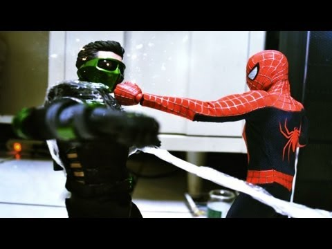 Hot Toys Stop Motion : Spiderman VS Green Goblin 蜘蛛人VS綠惡魔