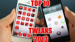 Top 10 Cydia Tweaks 2013 - iPhone & iPod Touch on iOS 6.1.3, 6.1.2 & Below!