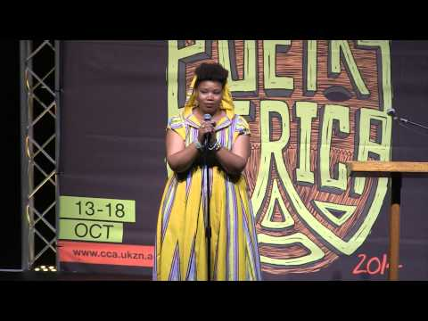 Vangile Gantsho at POETRY AFRICA 2014