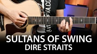 Sultans Of Swing - Dire Straits Guitar chords cover on guitar ( How to play )