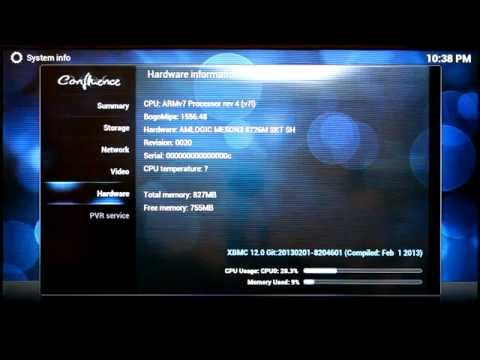 XBMC demo on Linux Smart TV Box