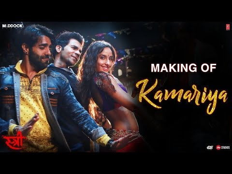 Making Of Kamariya Video | STREE | Nora Fatehi | Rajkummar Rao | Aastha Gill, Divya Kumar