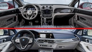 2019 Bentley Bentayga vs 2019 BMW X7 Interior Design Detailed