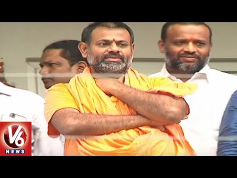 High Court Lifts Ban On Entry Of Paripoornananda Swamy in Hyderabad | V6 News