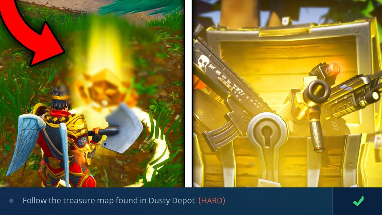 Dusty depot schatzkarte