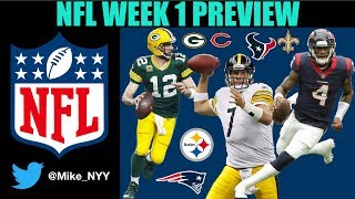 NFL Week 1 Preview and Predictions for EVERY Game