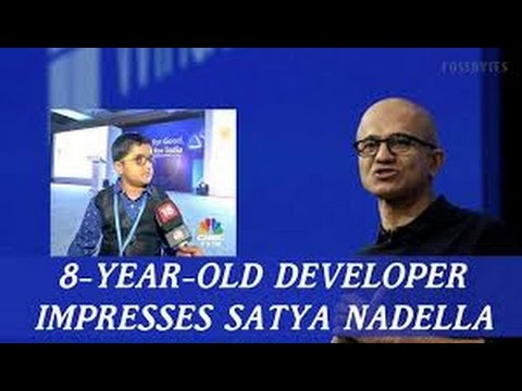 8-year-old kid stuns Satya Nadella, plans to be Microsoft CEO