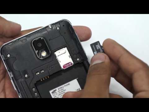 How to Insert SIM Card & MicroSD Card in Samsung Galaxy Note 3