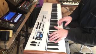 Arturia Keylab 88 demo with Korg Module
