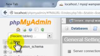 learn how to create database and tables phpmyadmin 2017,