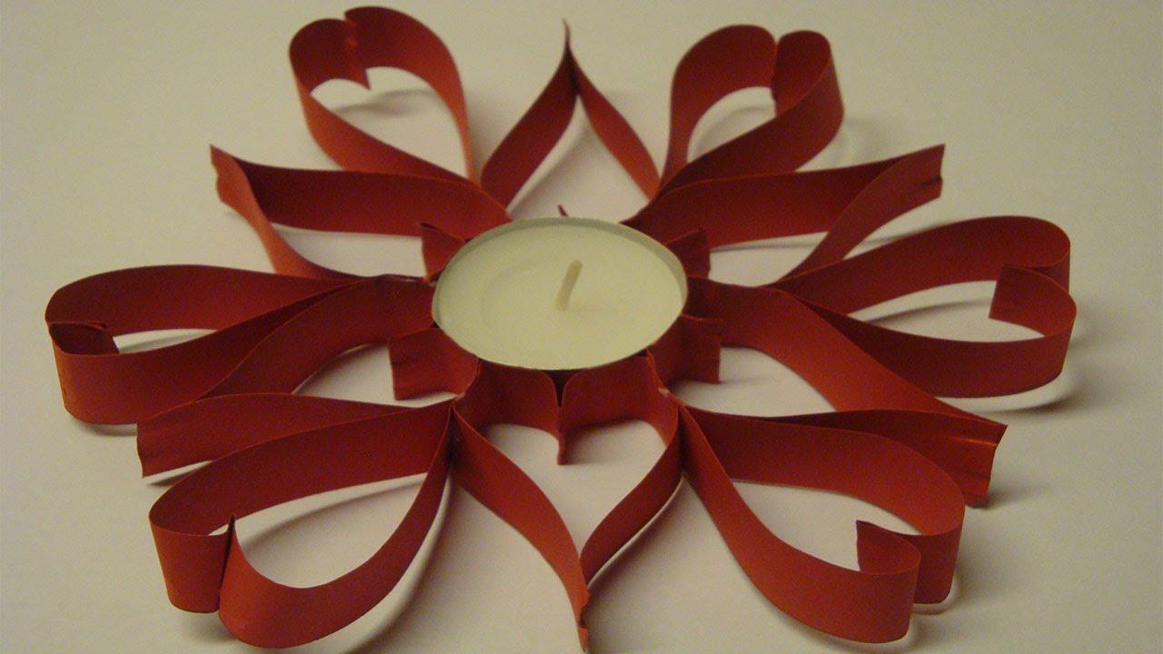 Valentinstag Deko selber machen - Teelicht dekorieren - YouTube