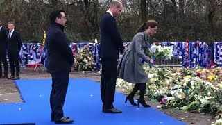 The Duke & Duchess of Cambridge Pay Tribute At Tragic Leicester City Site