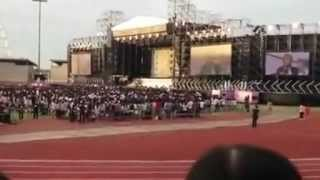 [Fancam] 120609  Victoria speak Chinese