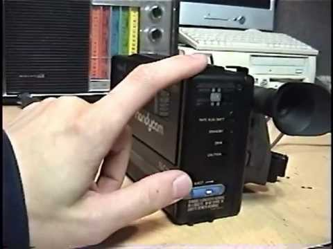 1985 first Sony Handycam CCD-M8U review & test