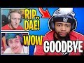 Streamers React To Daequan  *OFFICIALLY* QUITTING Streaming! (SAD)