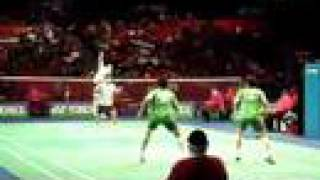 Amazing badminton rally at AEO 07