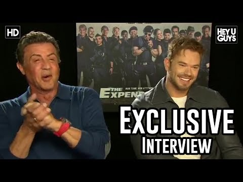 Sylvester Stallone and Kellan Lutz Interview - The Expendables 3