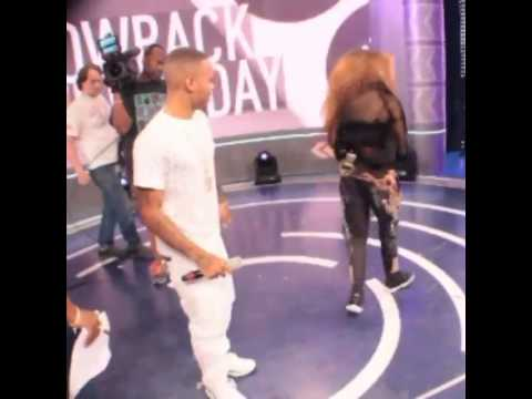 Tinashe Teaching Shad Moss How to dance on 106&Park