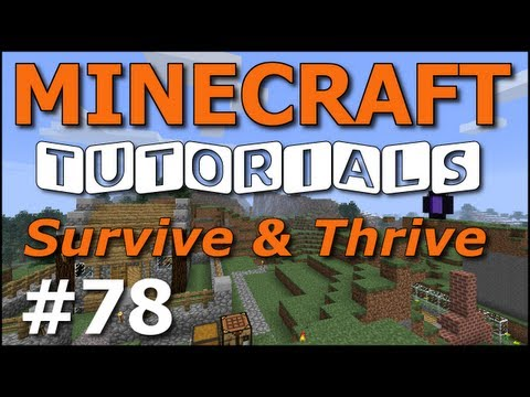 Minecraft Tutorials - E78 Daylight Sensor Solar Panel (Survive and Thrive Season 5)