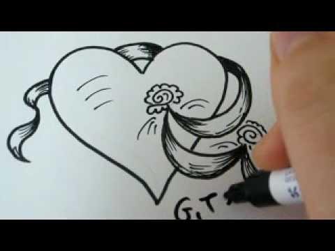 Как нарисовать сердце поэтапно ...